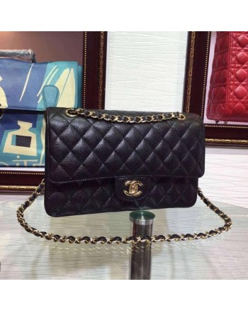 CHANEL Bag Classic Double Flap Caviar Leather Sling Handbag