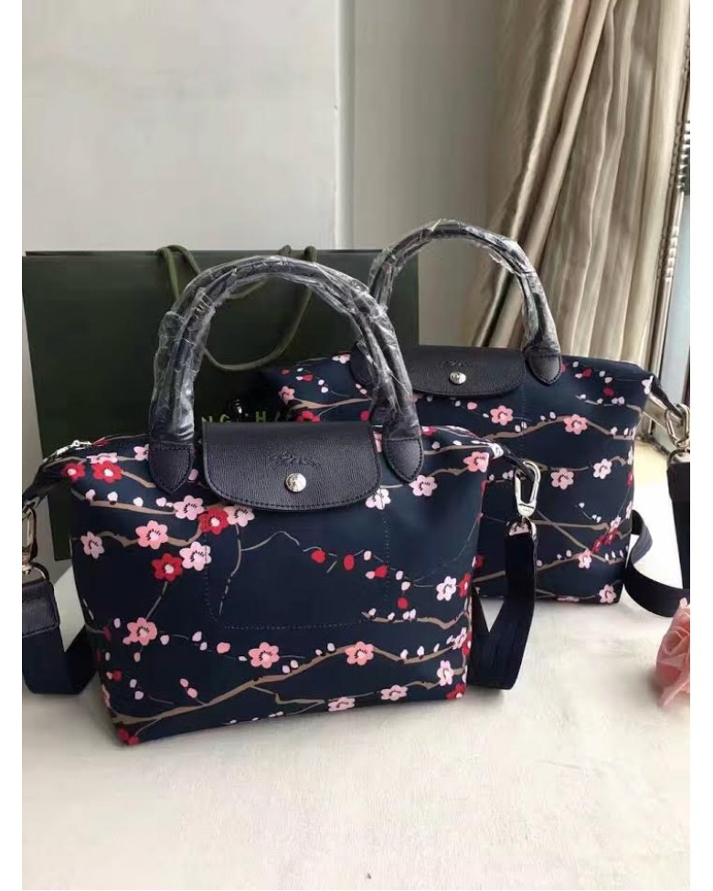 (Premium Quality) LONGCHAMP Bag Le Pliage Neo Sakura Tote   Sling Handbag ( SMALL   MEDIUM size) cc9c3776401fa