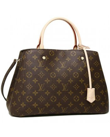 LOUIS VUITTON Bag LV Montaigne Leather Tote / Sling Handbag