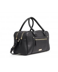 Mango MNG Bag Antiguo Double Zip Bowling Tote / Sling Handbag