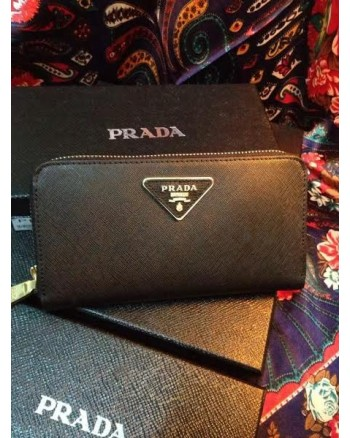 Prada Signature Crossgain Saffiano Effect Purse