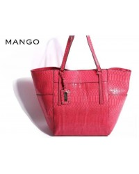 MANGO Alligator Magnet Buckle Shoulder Bag