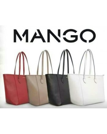 MNG Saffiano-Effect Shopper Bag