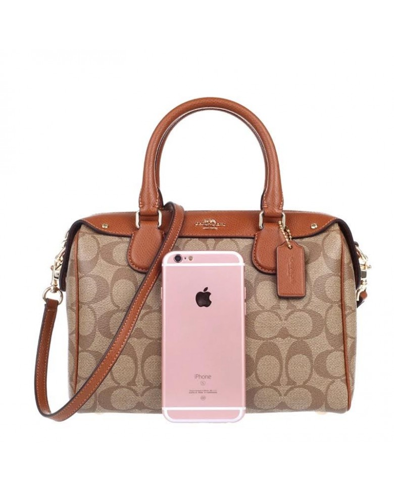 d3a7ab488163 COACH Signature Jacquard Bennett Leather Crossbody Sling Tote ...