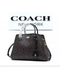 COACH Signature Jacquard 2 In 1 Tote/Sling Handbag