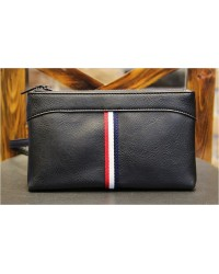 Korean Le Vouge Bag Men De Moda Leather Clutch / Wristlet (Black)