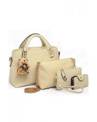 Faux Crocodile Leather Bags + Teddy Bear keychain 4 Pcs