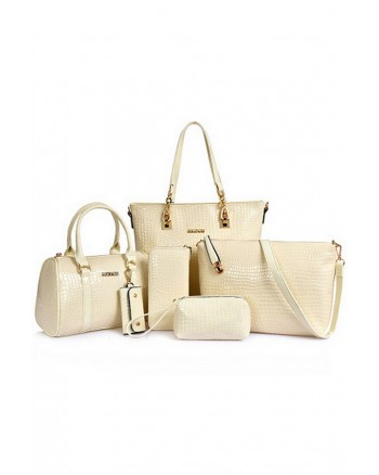 Luxury Glamour Artificial Crocodile Leather Bag 6n1 Set