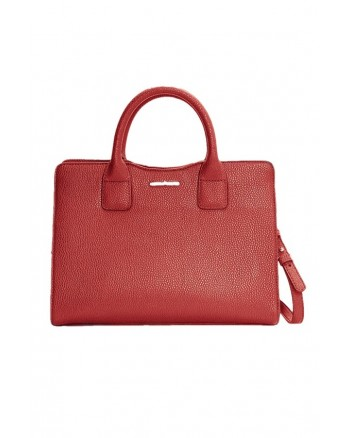 MANGO Embossed Leather Briefcase Portable Bag
