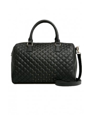 Mango Quilted Studded Bowling Bag