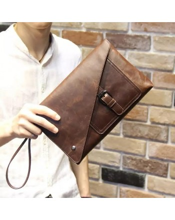 Korean Designer Leather Men Cluth Handbag