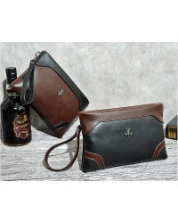 Korean Le Vogue Bag Men Contorno Leather Clutch / Wristlet