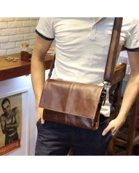 Korean Le Vogue Men Bag Stubborn Flap Leather Clutch / Sling Handbag