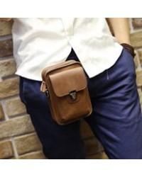 Korean Le Vogue Men Utility Leather Waist Bag