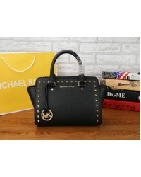 Michael Kors MK Selma Stud Bag Leather Tote/Sling Handbag